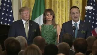 President Trump Delivers Remarks at the Shamrock Bowl Presentation by Prime Minister Varadkar