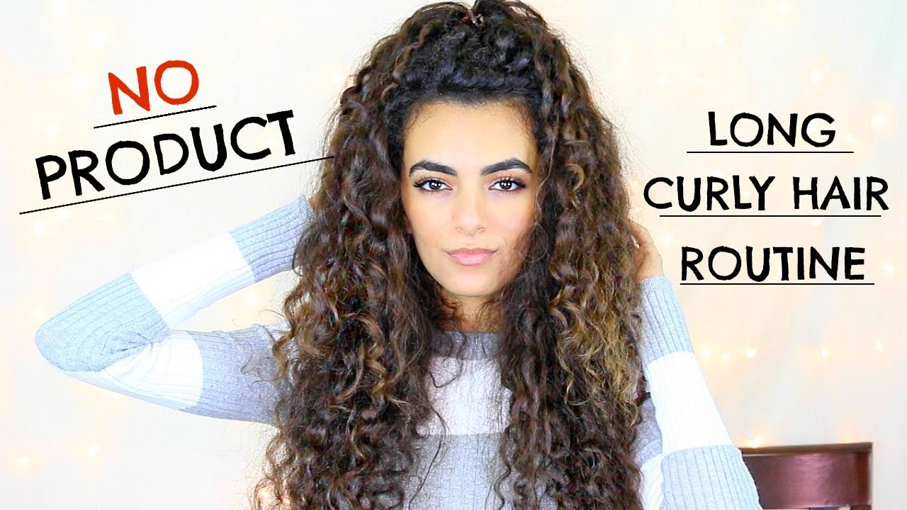 No Product Curly Hair Routine Youtube