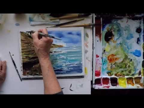 Watercolor Adventures: Sunset Cliffs II