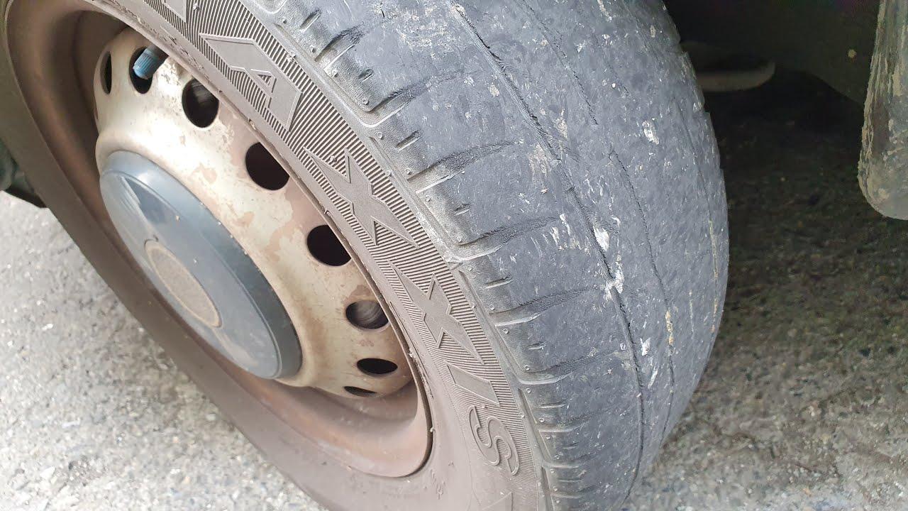 車子輪胎皮又磨平了 - YouTube