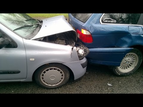 My BMW e39 530d rear-ended by an elderly lady in a Clio at speed.