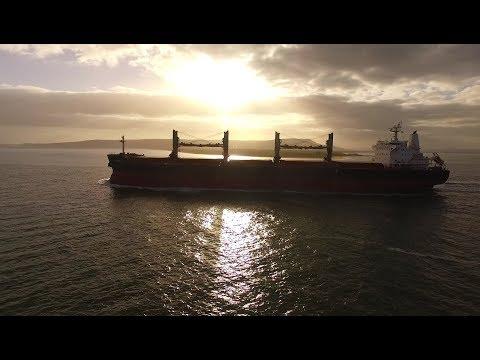DJI Phantom 3 Advanced - ROWAN 1  Bulk Carrier & Foyle Leader Chase & Vlog