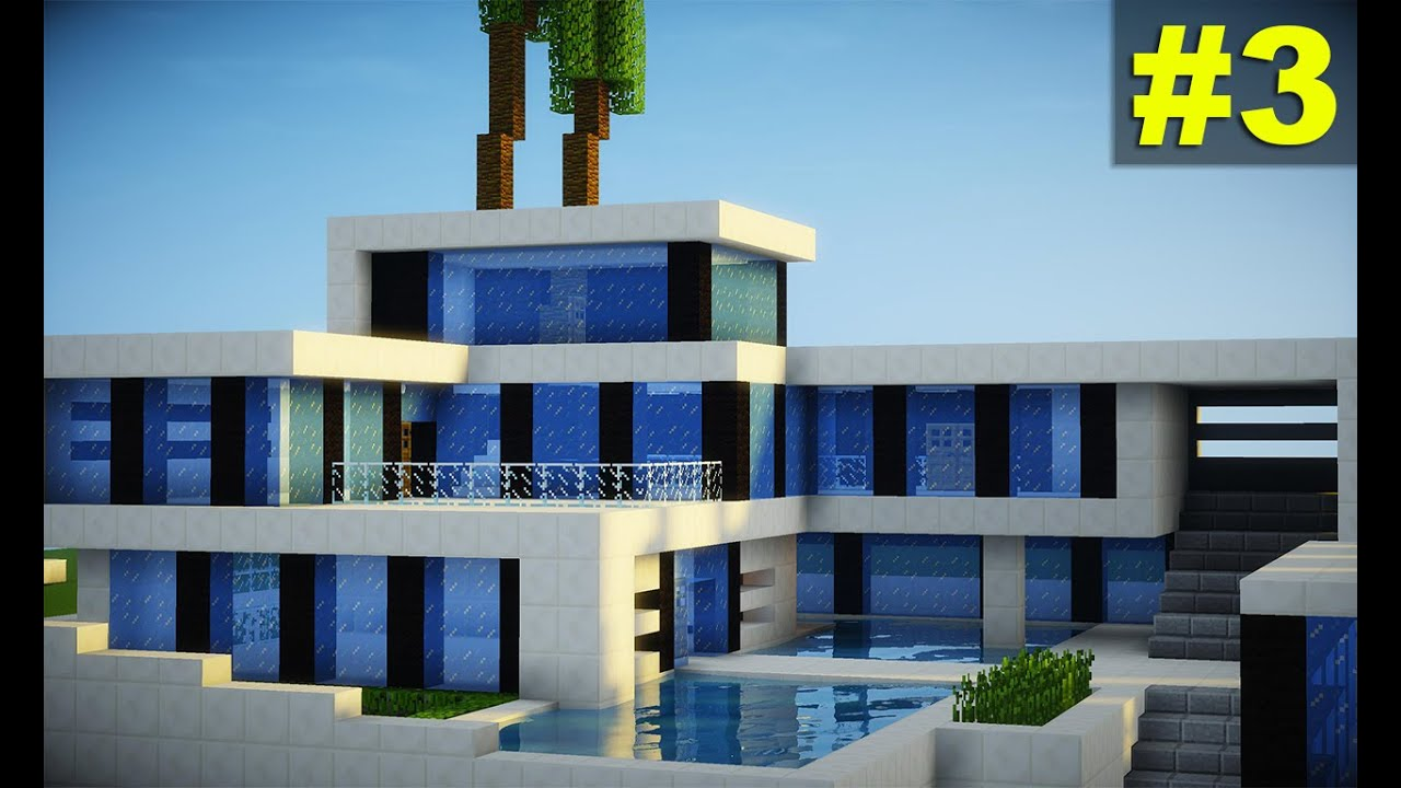 Minecraft tutorial casa super moderna parte 3 youtube for Casas modernas para minecraft