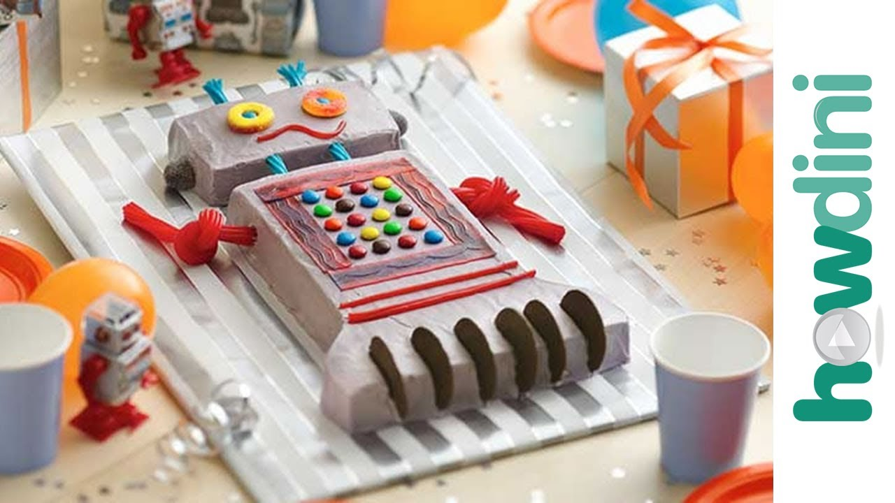 Birthday Cake Ideas How To Make A Robot Birthday Cake Youtube
