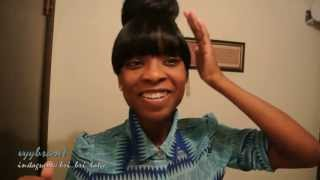 Detailed How to:: Evelyn/Beyonce INSPIRED Bun w/ Bangs