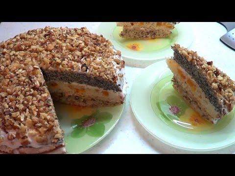 Торт трехслойный Сказка
