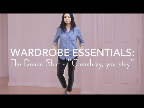 DENIM SHIRTS FOR SPRING LOOKBOOK | 3+ WAYS TO WEAR CHAMBRAY | LvL