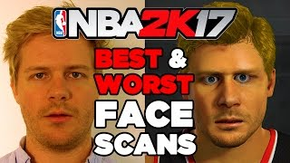 Best and Worst NBA 2K17 Face Scans