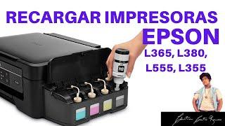 COMO RECARGAR TINTA DE  IMPRESORA EPSON, L365, L380, L555, L355