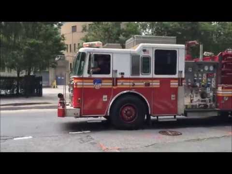 AFTERMATH OF MVA INVOLVING FDNY ENGINE 40 WHEN IT LOST IT'S TOOL BOX AFTER BEING HIT BY TRUCK.