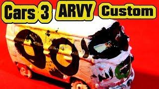 Pixar Cars 3 Custom ARVY Demolition Derby Car with Primer McQueen Miss Fritter