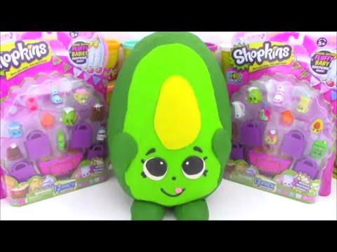 Giant Shopkins Play Doh Surprise Egg Dippy Avocado Season 2 Shopkin