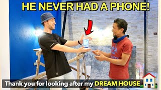 Surprising My FOREMAN his DREAM PHONE on New Yrs Eve! 🎉🇵🇭 (Dream House is Almost Done)🙏🏠