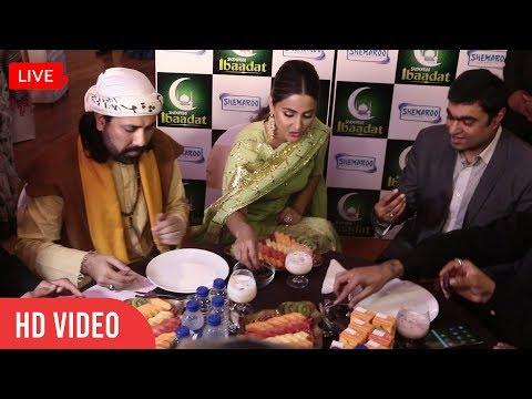 Hina Khan LIVE Iftaari In Front Of MEDIA