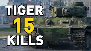 World of Tanks || 15 KILLS IN A TIGER!
