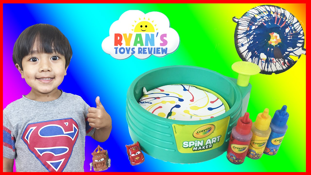 Crayola Spin Art Maker Paint Toy For Kids With Disney Cars