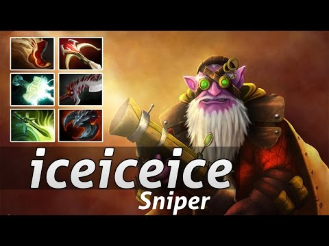 Sniper Pro Build  by iceiceice Gameplay - Dota 2 Epic Moments