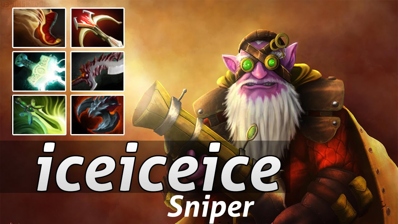 Dota  Sniper Item Build Up