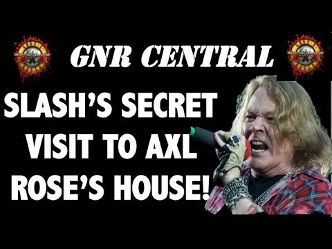 Guns N' Roses: Slash Makes a Surprise Visit to Axl Rose's Home!