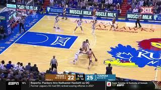 Texas vs Kansas Men's Basketball Highlights