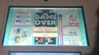 Dr mario miracle cure game over screen