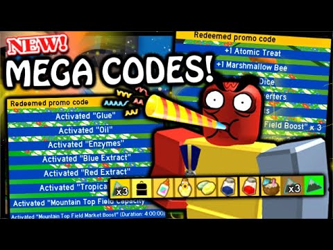New 2x Mega Codes Celebrate Bee Swarms Birthday Roblox Bee