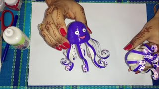 43. How to make 3D Quilling Octopus