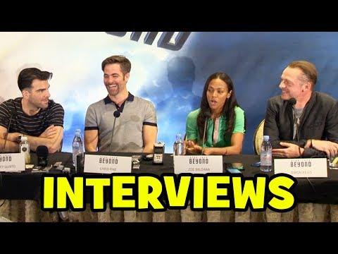 STAR TREK BEYOND Cast Interviews - Chris Pine, Zachary Quinto, Karl Urban, Zoe Saldana
