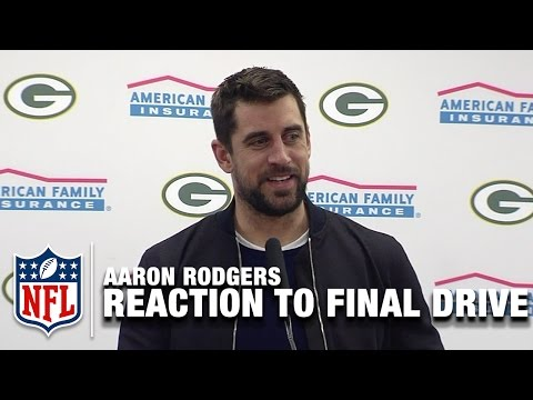 Aaron Rodgers Reaction to Game-Winning Drive | Packers vs. Cowboys |  NFL Divisional