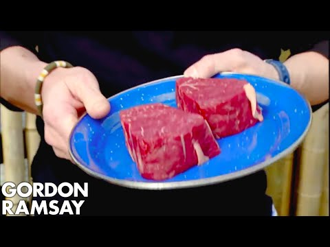 Gordon Cooks Steak For A Vegetarian | Gordon Ramsay
