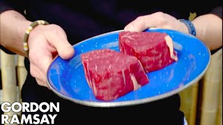 Gordon Cooks Steak For A Vegetarian - Gordon Ramsay