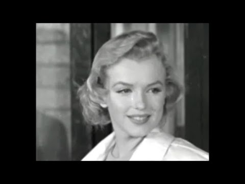 """Marilyn Monroe At Airports 1956 - """"After You Got What You Want Did You Want It?"""" Interview 1955"""