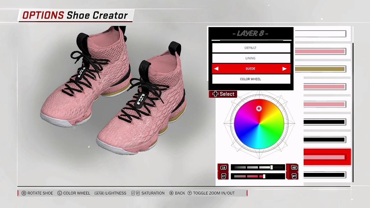 70e7f5f6ab9 NBA 2K18 Shoe Creator - Nike LeBron 15