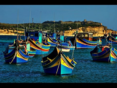 "Marsaxlokk, Malta - A Traditional Colorful Boats - ""Luzzu"""