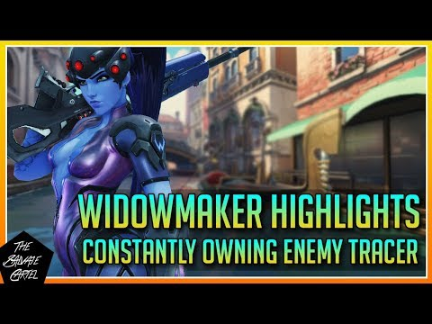 OVERWATCH: POOR TRACER GETTING DESTROYED BY MY WIDOWMAKER SKILLZ!