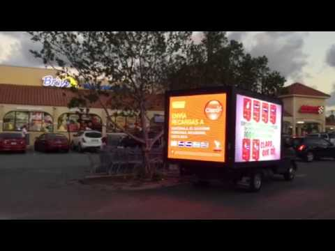 Mobile digital LED billboard truck