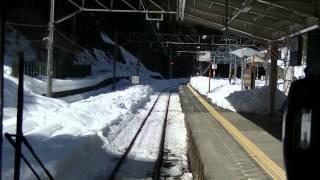 西武鉄道2079F 各停西武秩父行 前面展望 積雪から運転再開