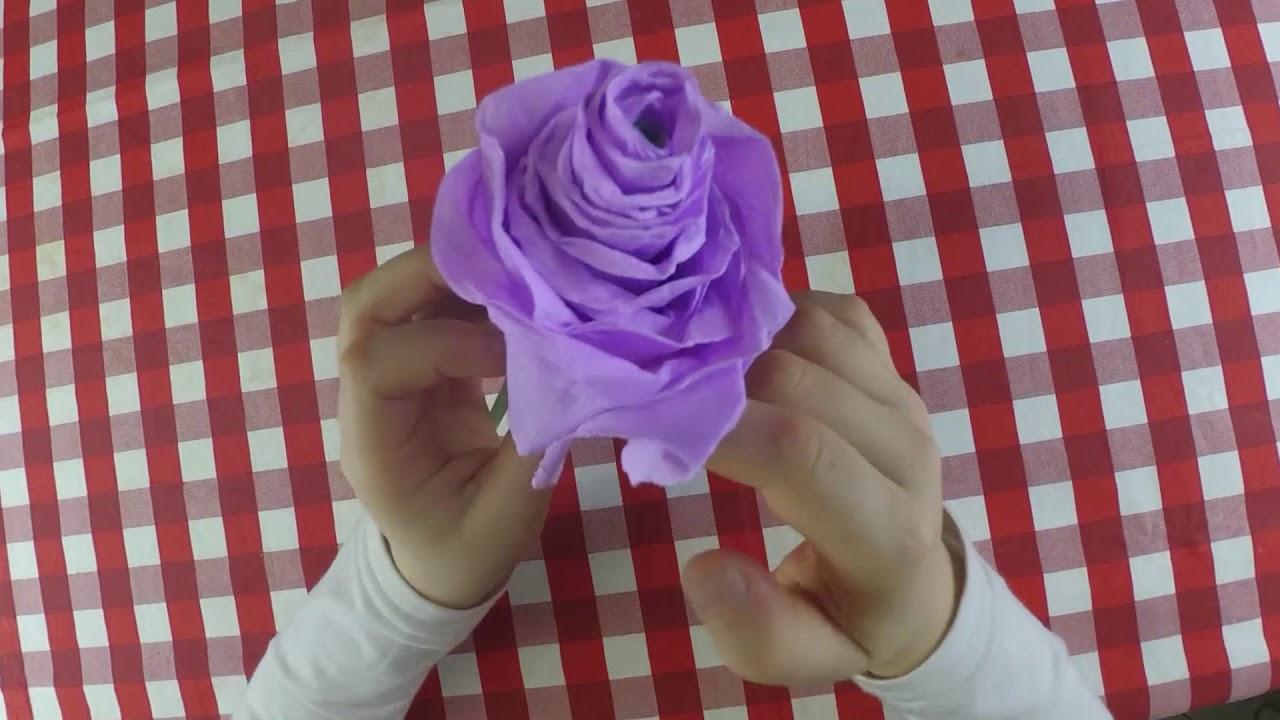 Papaveri Di Carta Crespa come fare una rosa di cartacrespa (speciale festa della mamma)
