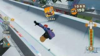 Shaun White Snowboarding: Road Trip Nintendo Wii Gameplay - Riding the Pipe (480p)