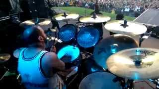Limp Bizkit (Fans on stage) LIVE Hot Dog Behind the Drums, Germany, Stadtpark 24.06.2014
