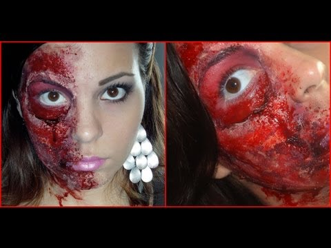maquillage zombie double face