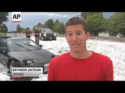 Hail, Not Snow, Hits Denver Area; Damage Reported to Cars and Buildings