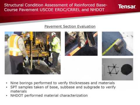 Structural Condition Assessment of Reinforced Base-Course Pavement-- US Army Corps of Engineers ERDC