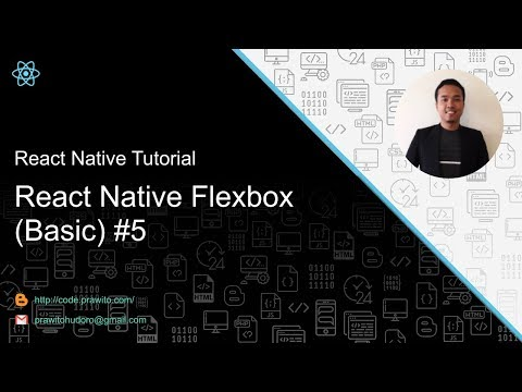React Native Tutorial [Indonesia] - React Native Flexbox (Basic) #5 thumbnail