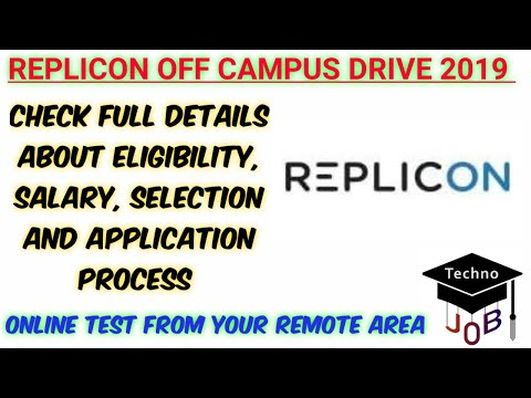 Replicon Off Campus Drive 2019 | B.E/B.Tech/M.Sc/MCA | 2017/2018/2019 Batch | Online Test from Home