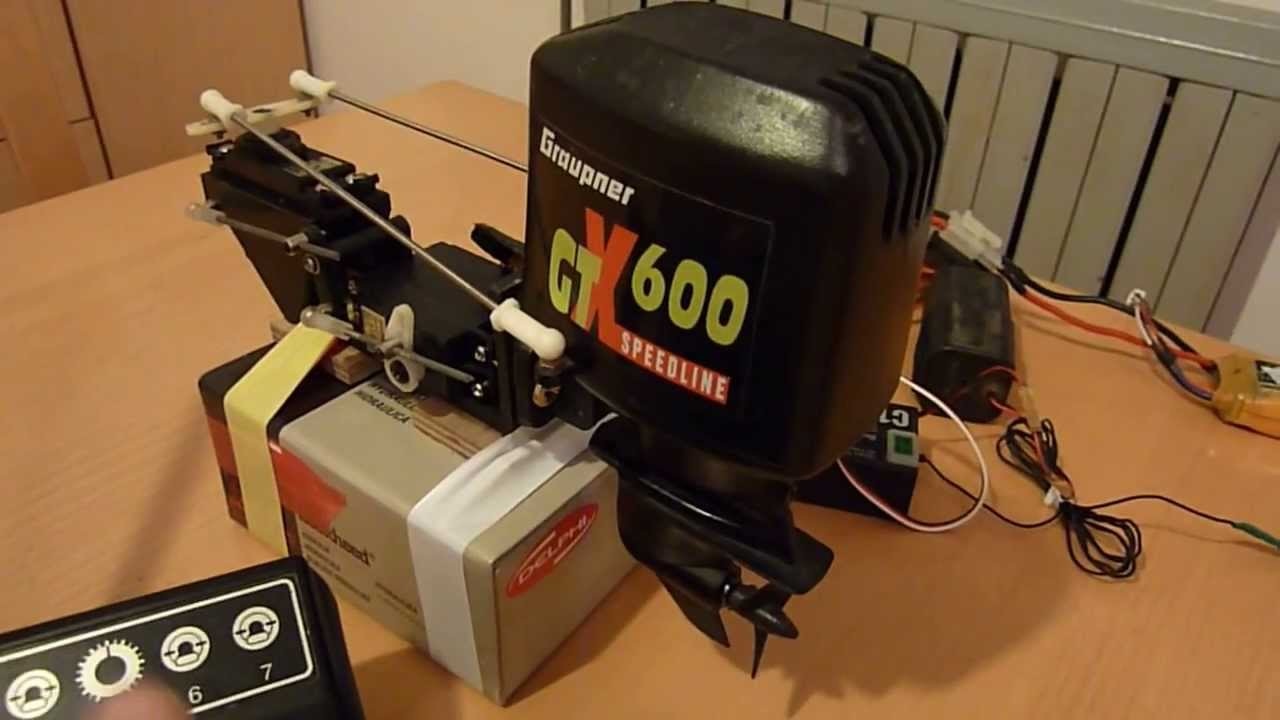 Graupner Gtx600 Outboard Motor For Sale Youtube