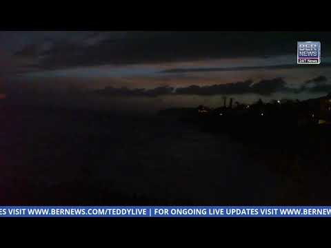 Live Video: Sunset & waves as Hurricane Teddy approaches Bermuda