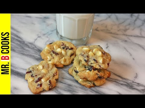 White Chocolate Cranberry Cookies Recipe | Easy Cookie Recipes