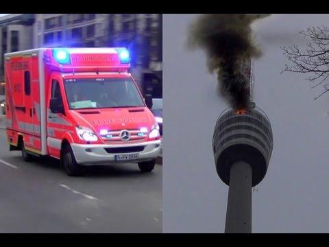 EILMELDUNG - KURZBERICHT | FEUER im Fernsehturm [Rettungskräfte auf Anfahrt] [Hatte OB Kuhn recht?]