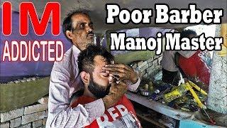 Addicted Head massage in street salon - ASMR indian barber